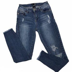 Fashion Nova Distressed Skinny Jean Sz 0